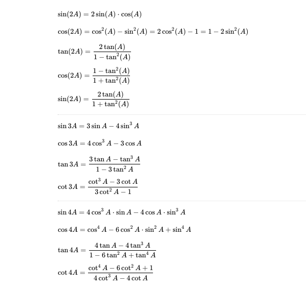 Trigonometric Idenies