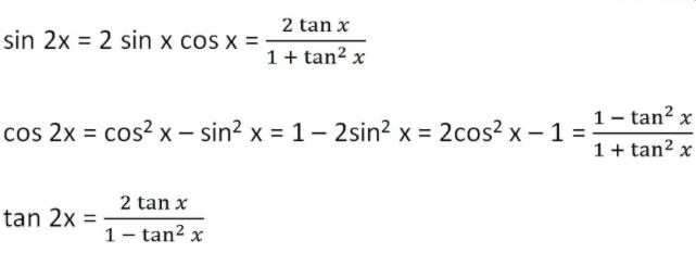 Double Angle Formula