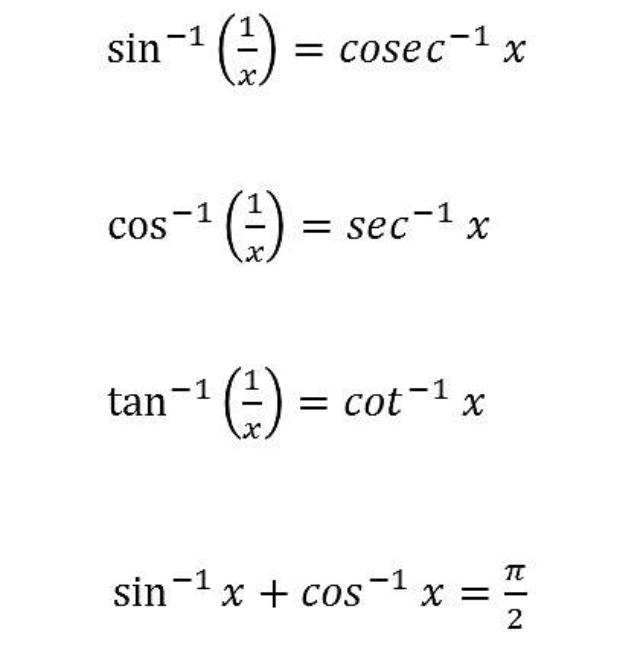 Inverse Trigonometry Formula